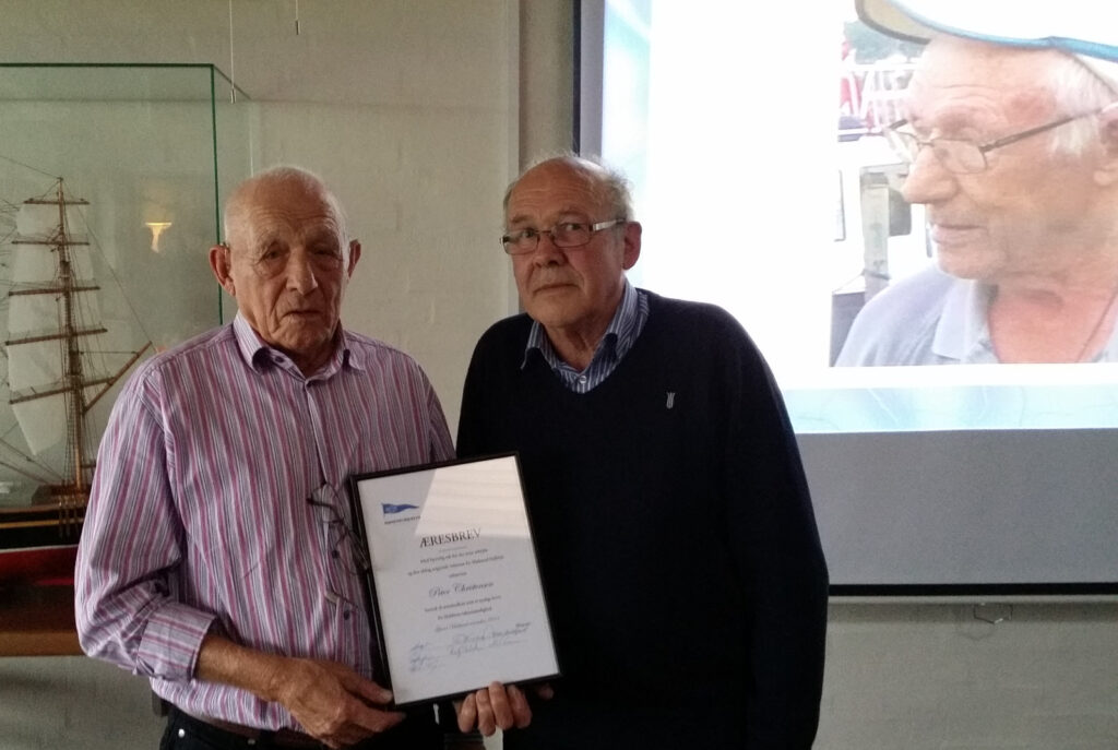 Peter Christensen og formand Jens Nørgaard
